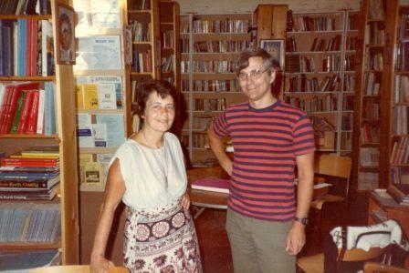 1984-09-Francoise-Gauquelin and Robin Armstrong