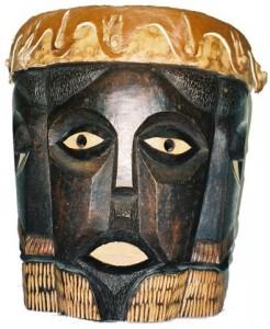 SAfrican Drum eyes open